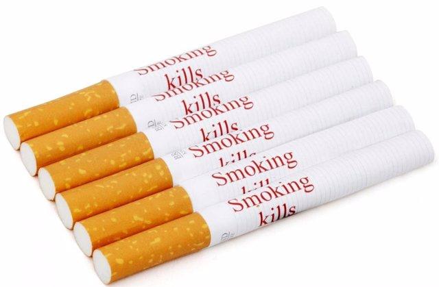 Imagen de advertencias sobre cigarrillos.