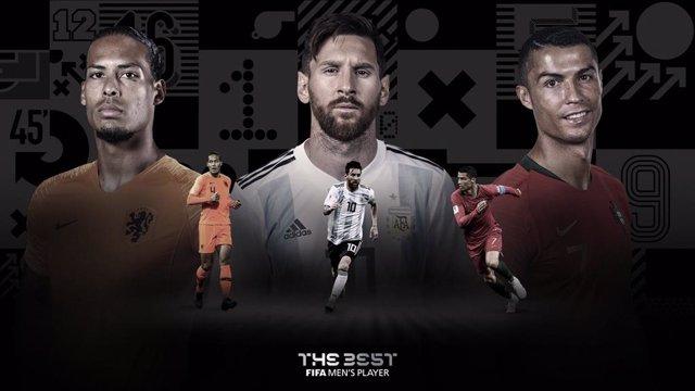 Fútbol.- Messi, Cristiano Ronaldo y Van Dijk repiten como candidatos al premio T