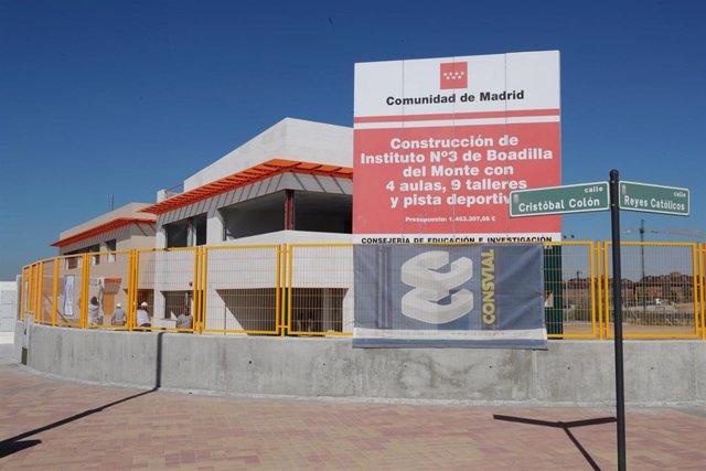 Las obras del colegio Isabel la Católica en Boadilla del Monte.