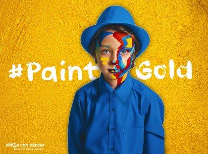 #PaintGold, una iniciativa de NIÑOS CON CÁNCER para apoyar alos menores con cáncer infantil