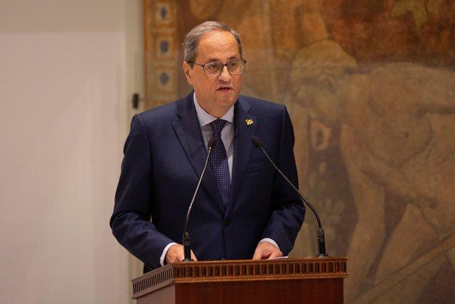El Presidente Quim Torra Concluye La Toma De Posesión De Joan Vintró