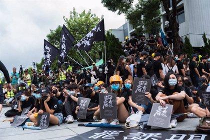 China.- Segunda jornada consecutiva de huelga general en Hong Kong coincidiendo con el inicio del curso escolar