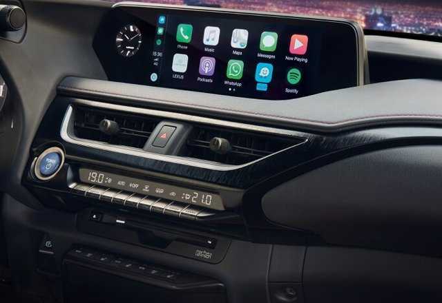 Sistema Apple CarPlay en un vehículo de Lexus