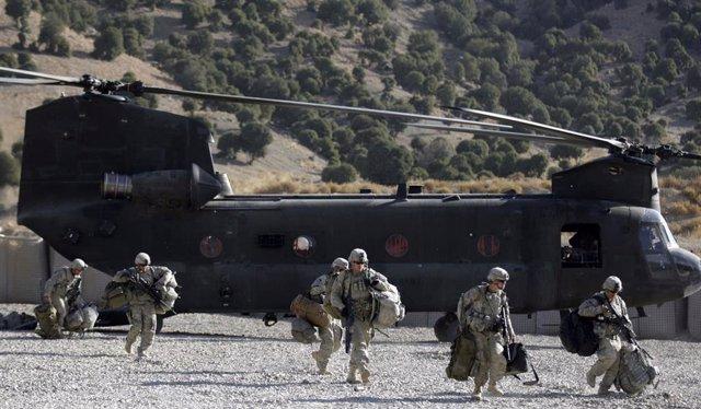 Efectivos estadoundienses en Afganistán.