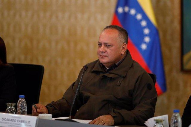 El presidente de la Asamblea Nacional Constituyente (ANC) y vicepresidente del gobernante Partido Socialista Unido de Venezuela (PSUV), Diosdado Cabello.