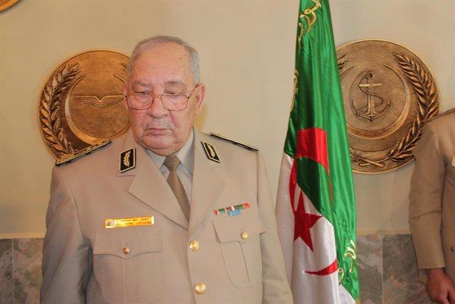 El teniente general Ahmed Gaid Salá, jefe de Estado Mayor del Ejército de Argelia
