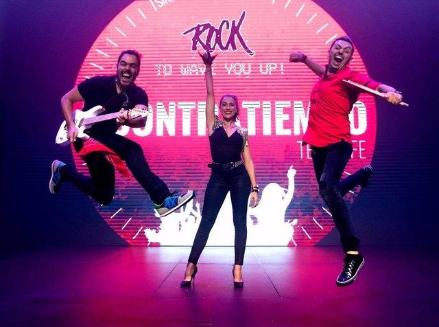 La banda canaria A Contratiempo durante un momento de la grabación de su primer vídeo clip