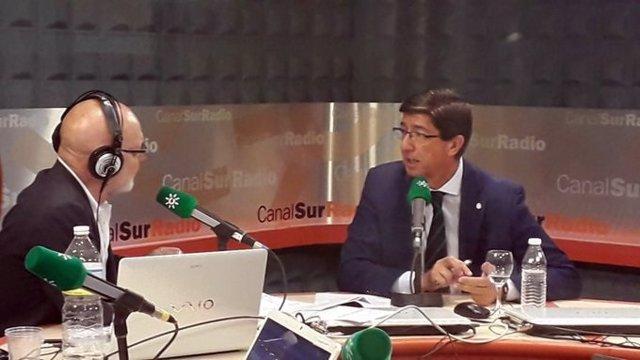 Juan Marín, durante la entrevista