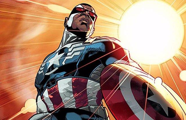 Falcon como Capitán América en los cómics de Marvel