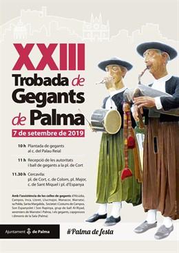 Cartel de la XXIII Trobada de Gegants de Palma.