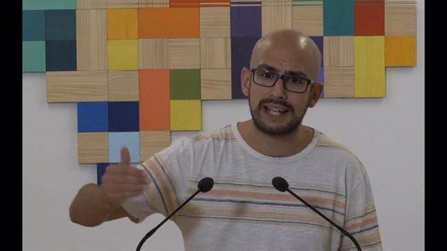 El responsable de la Secretaría Política y de Comunicación de Podemos Andalucía, Pablo Pérez Ganfornina, en una imagen de archivo.