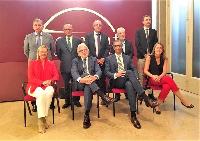 Josep Sánchez Llibre i l'adreça de Foment del Treball