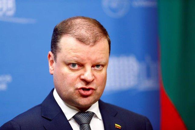 El primer ministro de Lituania, Saulius Skvernelis, en una imagen de archivo