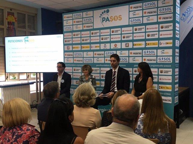 Rueda de prensa de presentación del estudio PASOS de la Fundación Pau Gasol