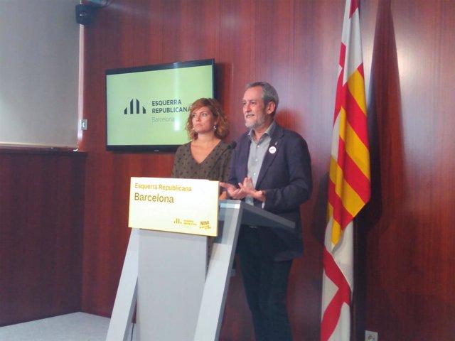 Jordi Corones i Elisenda Alamany en roda de premsa