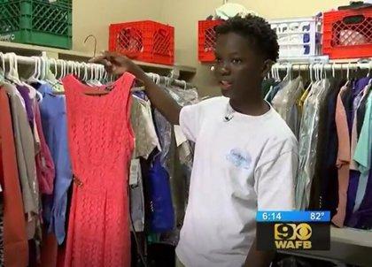 Un niño de 13 años crea un armario para que compañeros de colegio desfavorecidos opten a una vestimenta digna
