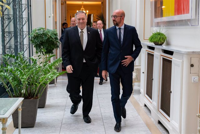 EEUU/UE.- Pompeo tantea las relaciones con los futuros líderes de la UE tras uno