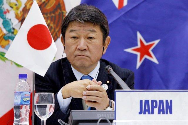 El ministro de Economía de Japón, Toshimitsu Motegi.