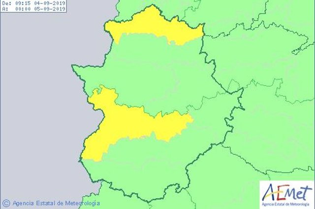 Alerta por calor en Extremadura