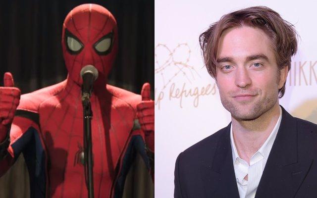 Tom Holland en Spider-Man: Lejos de casa y Robert Pattinson, el Batman de Matt Reeves