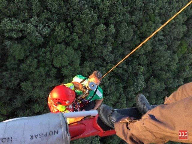 Rescate de los senderistas en el monte Buciero