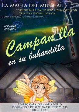 Cartel del espectáculo 'Campanilla en su buhardilla', que se presentará en el Teatro Carrión de Valladolid.