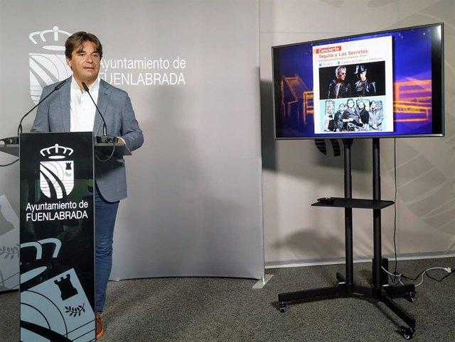 El alcalde de Fuenlabrada, Javier Ayala, en la presentación este martes de las fiestas de la localidad