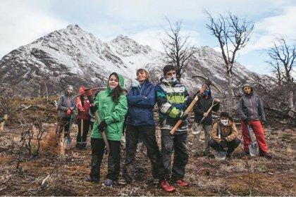 Un grupo de jóvenes argentinos logra plantar 200.000 árboles para reforestar un bosque quemado en 2012