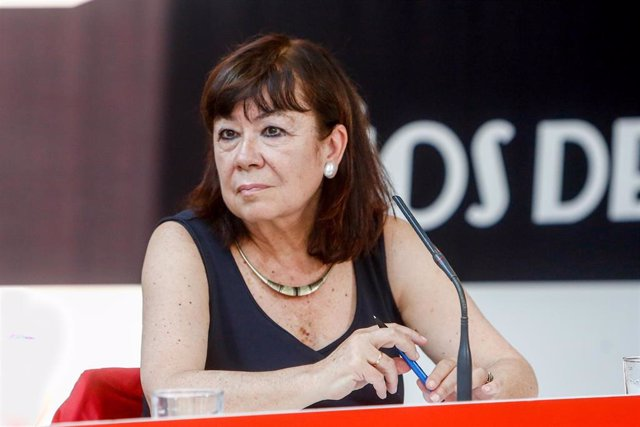 La presidenta del PSOE y vicepresidenta primera del Senado, Cristina Narbona.