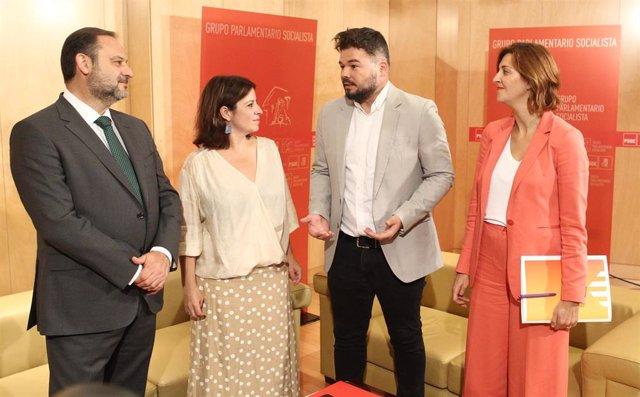 """VÍDEO: Rufián (ERC) ve """"nefasto"""" la negación del referéndum en el programa de PS"""