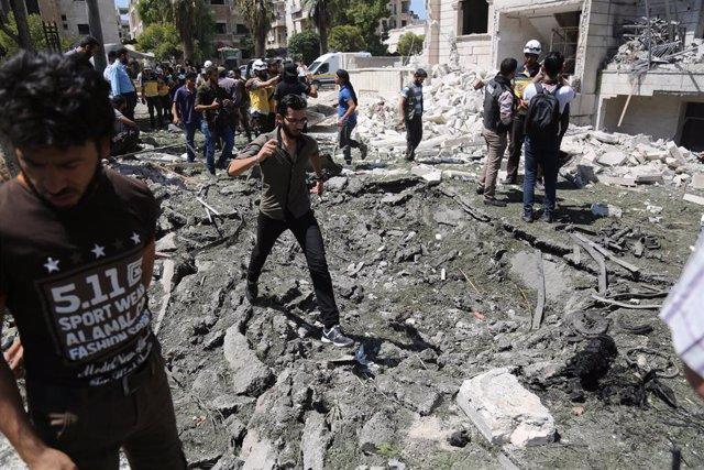 Explosión en un barrio residencial de Idlib