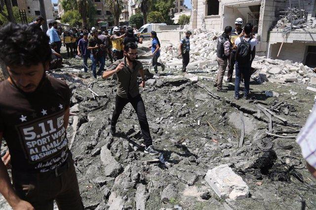 Siria.- Más de mil civiles han muerto por la ofensiva del régimen sirio en Idlib