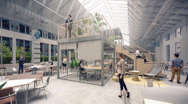 Simulación del espacio de trabajo flexible de LOOM en el barrio de Salamanca