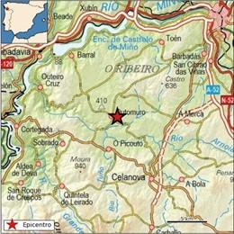 Terremoto sentido en Cartelle (Ourense)