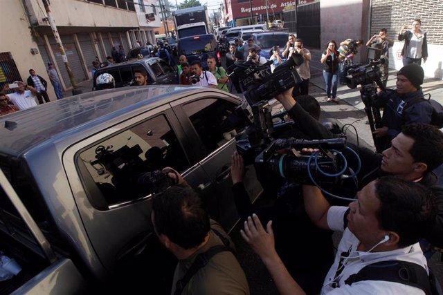 La ex primera dama hondureña Rosa Elena Bonilla tras ser detenida