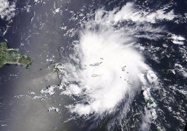 Huracán 'Dorian' en una imagen de la NASA