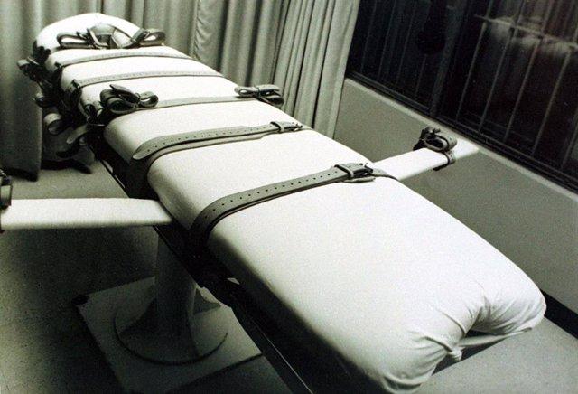 Camilla de ejecución de la Unidad de Huntsville?, prisión del Departamento de Justicia Criminal de Texas en Huntsville (Estados Unidos)