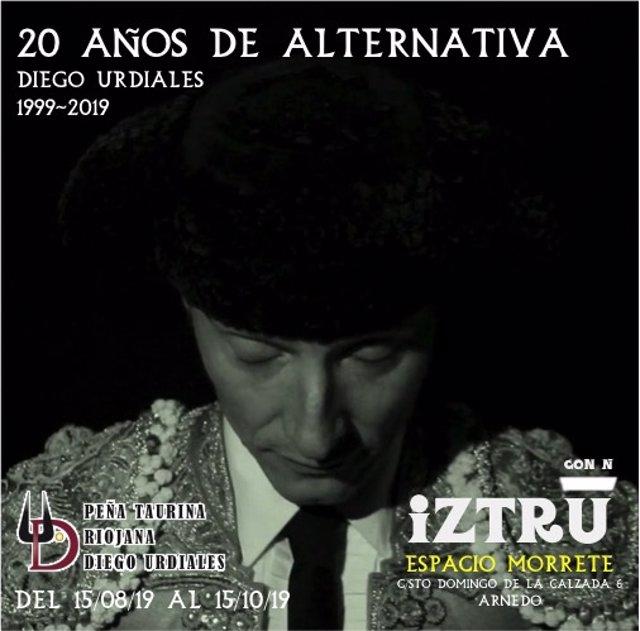 Cartel exposición 20 años de alternativa de Diego Urdiales