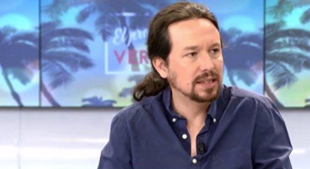 El secretario general de Unidas Podemos, Pablo Iglesias
