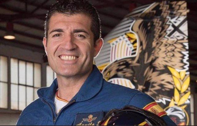 El comandante Francisco Marín Núñez, fallecido tras caer con su avión C-101 sobre aguas de La Manga del Mar Menor