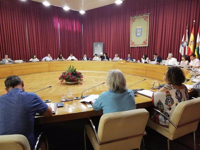 Imagen del primer pleno que ha celebrado la nueva Corporación del Ayuntamiento de Logroño
