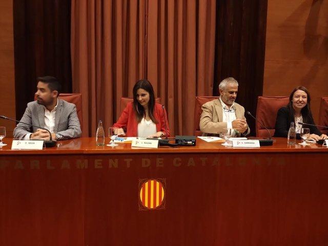 David Mejía, Lorena Roldán, Carlos Carrizosa y Marina Bravo (Cs)