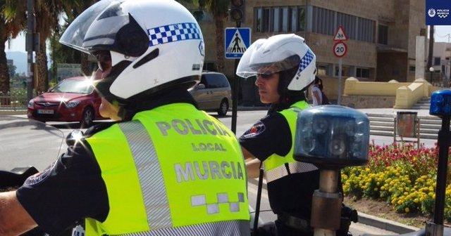 Agentes Policía Local de Murcia, foto de archivo