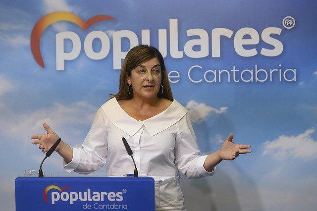 La presidenta del PP Cantabria. María José Sáenz de Buruaga