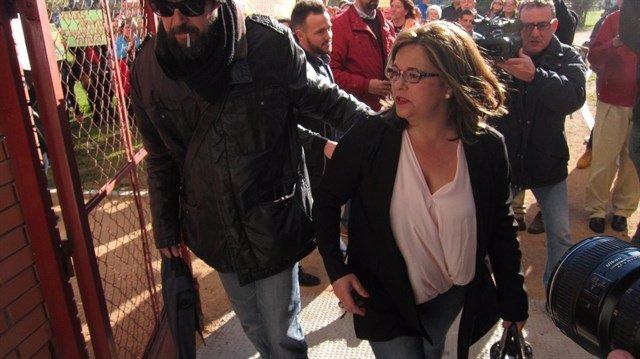 La presidenta de la Fundación Guadalquivir, Ángeles Muñoz, acude a una comparecencia en los juzgados, en una imagen de archivo.