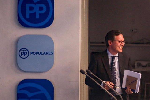 Imagen recurso del vicesecretario de Organización del PP de Madrid y portavoz adjunto del PP en la Asamblea de Madrid, Alfonso Serrano