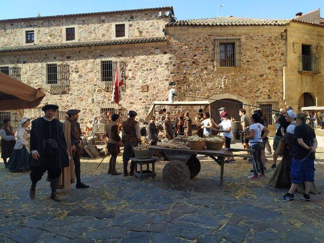 El rodaje de la serie 'Inés del alma mía' concluye en Extremadura y se traslada