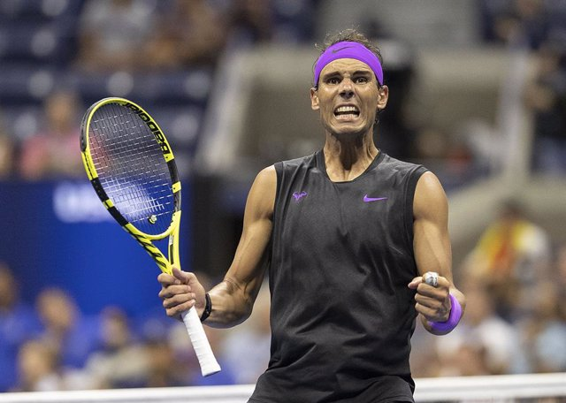 04 September 2019, US, New York: Spanish tennis player Rafael Nadal celebrates victory after defeating Argentina's Diego Schwartzman in their men's singles quarter-final tennis match of the 2019 US Open Gran eslam tournament at USTA Billie Jean King Natio