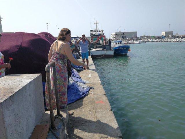 Homenaje al naufragio del NUeva Pepita Aurora en Barbate