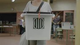 Urna per al referndum de l'1 d'octubre